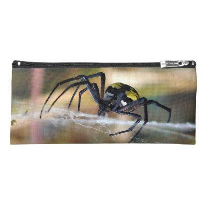 #Black & Yellow Argiope Garden Spider Pencil Case - #halloween #party #stuff #allhalloween All Hallows' Eve All Saints' Eve #Kids & #Adaults