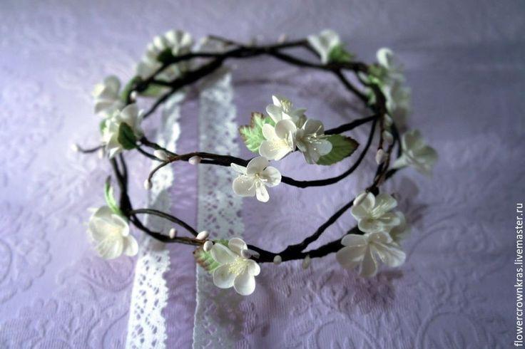 Купить Двойной цветочный венок / Double wedding flower crown - венок из цветов