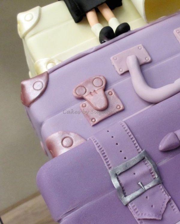 Bolos inspirados em malas de viagem