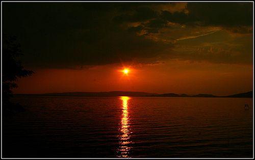 Sunset @ Lake Balaton.