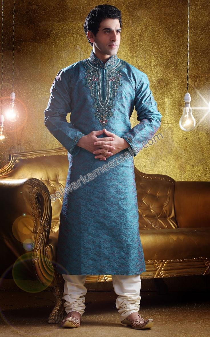 Salwar Kameez-blue with white shalwar