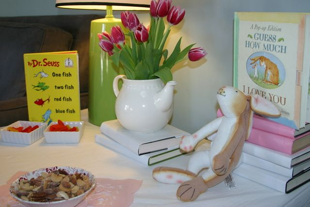 """I love the many books theme! Photo 3 of 20: Storybook Tea Party / Baby Shower/Sip & See """"It's a Girl! Baby Shower""""   Catch My Party"""