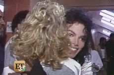 """cromoonwalker: """"I had to gif this, this is probably the cutest MJ moment in a whole universe, just look at his face in the first gif ♥ Thanks to bad-era-obssesion who uploaded this video! """""""