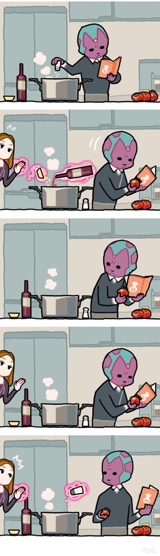#scarletvision (Relationship Comics)