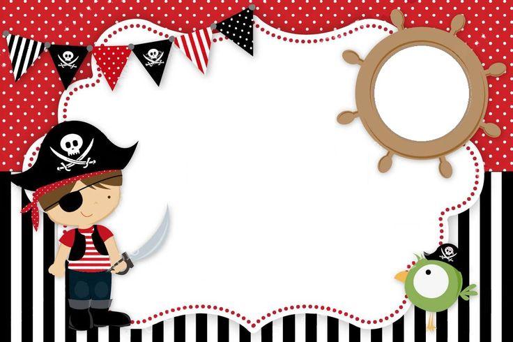 tarjeta de pirata invitacion                              …