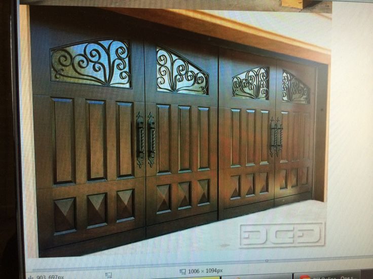 Beautiful brown garage custom doors the moore 39 s for Beautiful garage doors