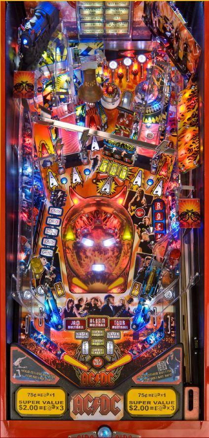 """AC/DC""   Pinball Playfield   #Pinball"