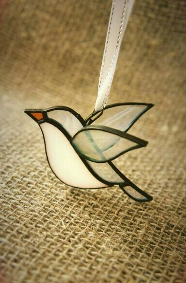 Bird stained glass