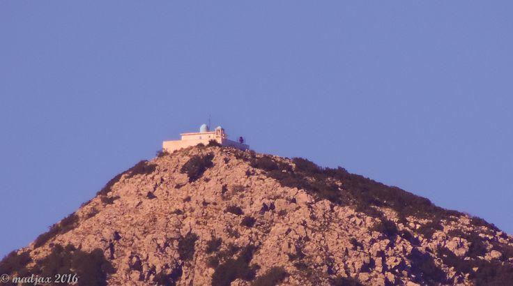 The White Church (Aghios Illias) Right at the very top of Lefkada. As Viewed from Geni.