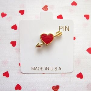 Arrow Heart Pins