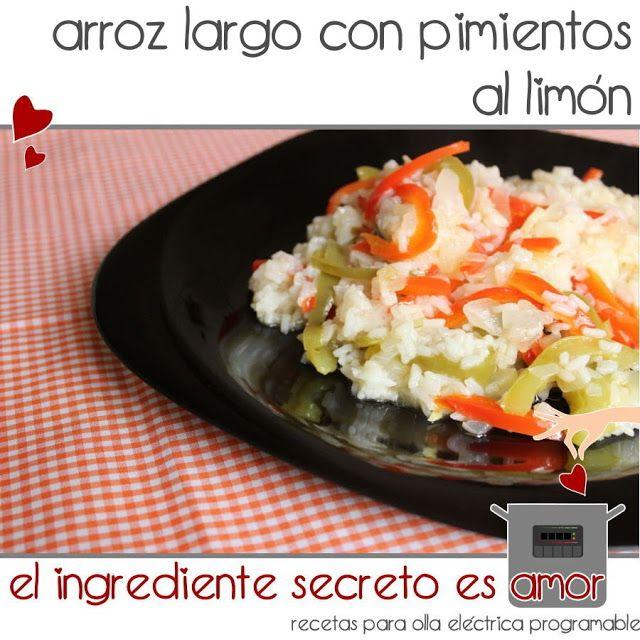 Receta de arroz con pimientos al limón en olla eléctrica programable - Olla GM