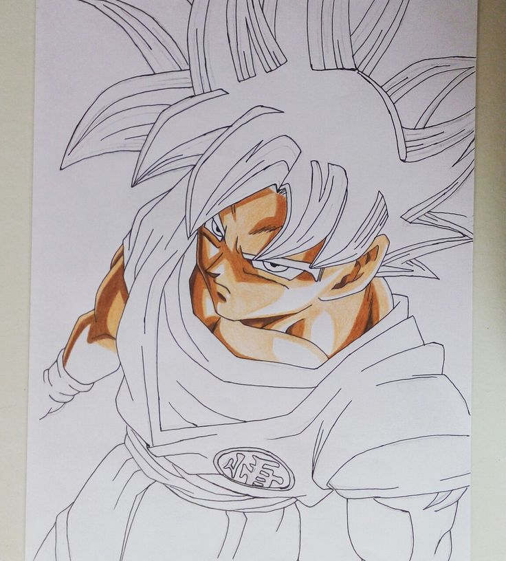 Drawing dbs goku