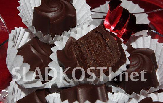 Čokoládové pralinky s brandy