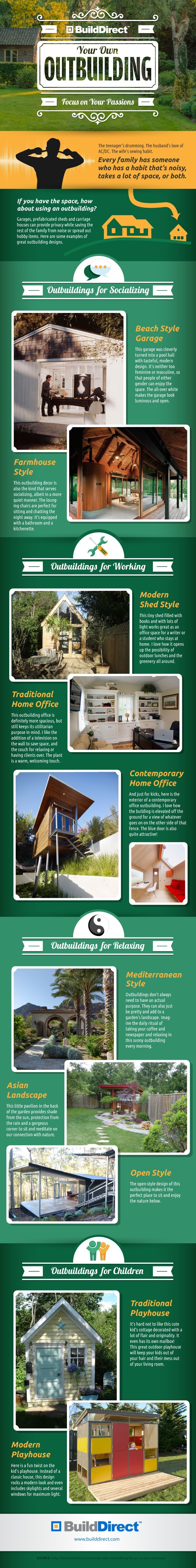 Have you heard of an outbuilding? Tips to create a warm and relaxing space detached from your home.