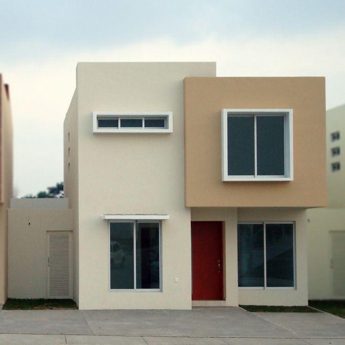 resultado de imagen de fachadas de casas de dos plantas pequeas