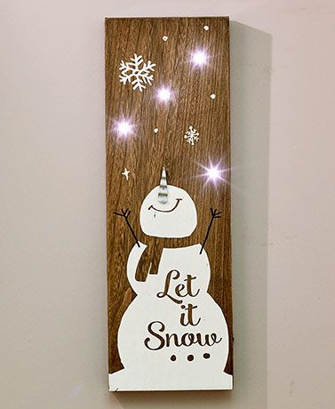 Wooden LED Holiday Signs