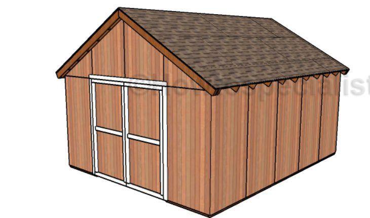 16 X 20 Free Pole Barn Plans #PoleShedPlan   Pole Shed ...