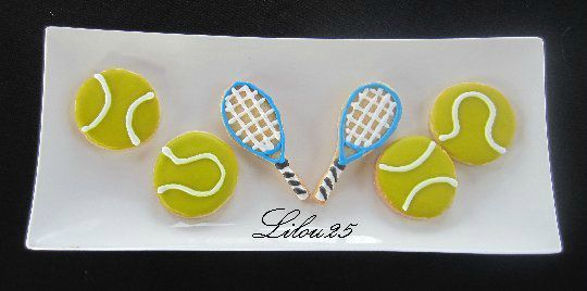 Sablés thème tennis
