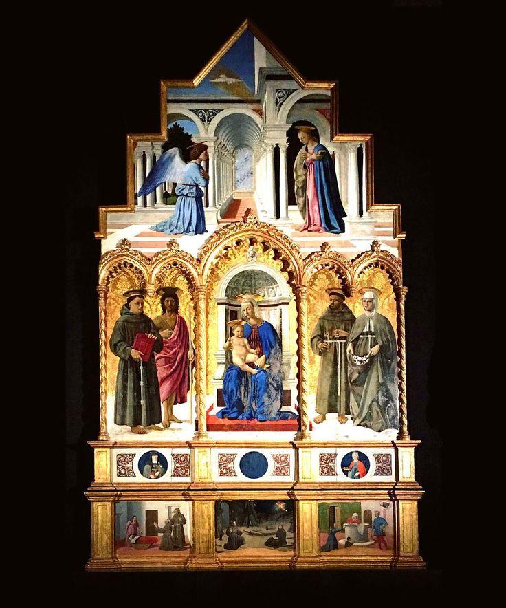 La prospettiva!!! La prospettiva!!! E d'un tratto arrivano reminiscenze d'una vita passata .... a studia' come si disegnavano le prospettive prima dell'avvento del cad!!!   Piero Della Francesca Polittico di Sant'Antonio 1467-1469    #perugia #igersitaly #igerseurope #igersitalia #igersperugia #ig_italia #ig_italy #ig_europe #ig_perugia #storiadellarte #pierodellafrancesca #instaculture #italianplaces #comeandsee #thisisitaly #art #instaart #whatitalyis #italiainunoscatto #bestvacations…