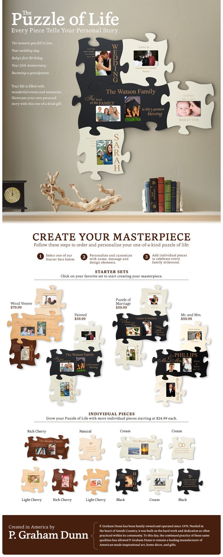 Display Your Memories with the Puzzle of Life at Personal Creations LOVE