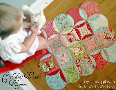 Moda Bake Shop: Cathedral Window Baby Playmat