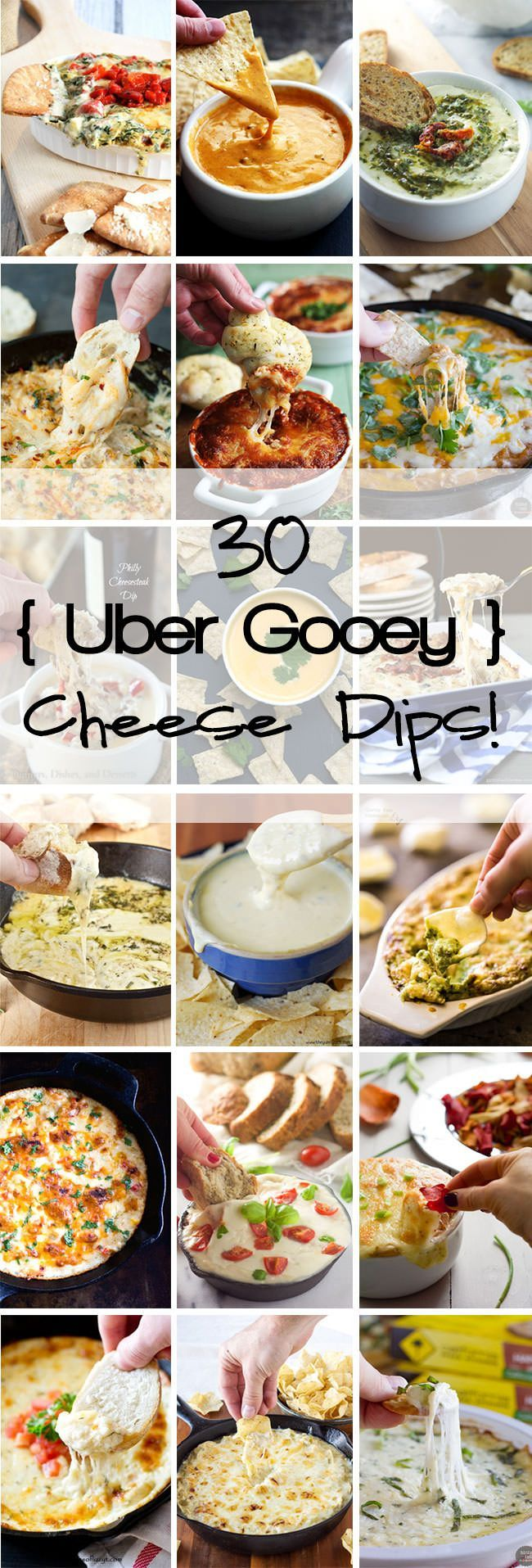 30 uber gooey cheese dips that will make your mouth water and your stomach growl!