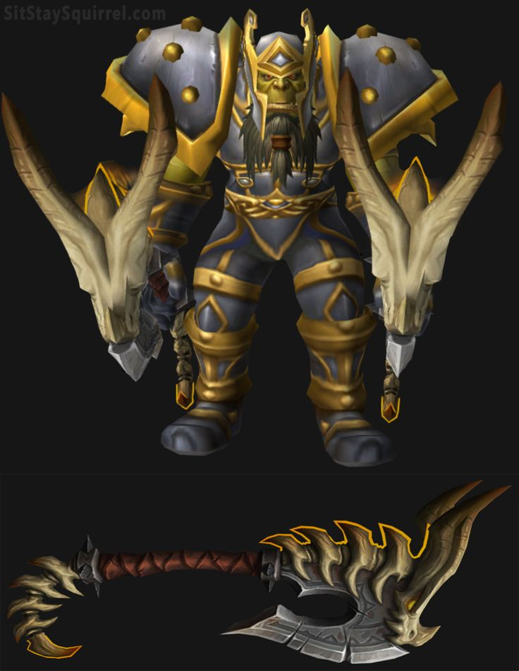 Orc Male Fury Warrior Transmog Artifact Set WoW