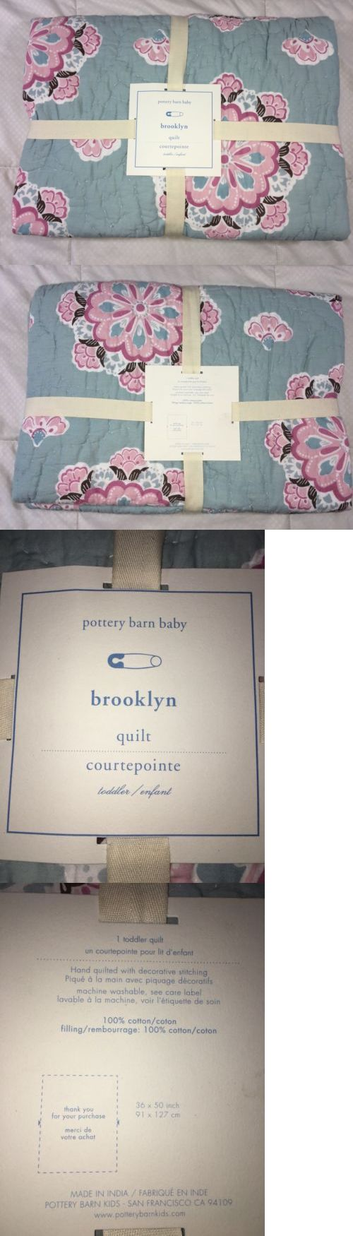 "Quilts and Coverlets 180908: Pottery Barn Kids Brooklyn Baby Quilt New For Crib Nursery Baby Bed 36"" X 50"" -> BUY IT NOW ONLY: $34.95 on eBay!"