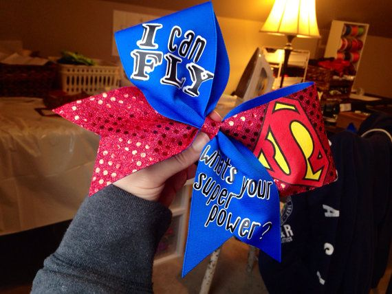 Hey, I found this really awesome Etsy listing at http://www.etsy.com/listing/176227200/i-fly-superman-cheer-bow