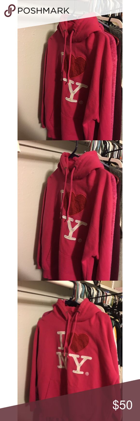 NY Pink Sweater/ Hoodie got it as a gift from a friend.. that went to New York.. and got it from a boutique NYC Sweaters