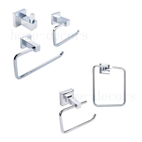 #Brass chrome bathroom #accessory set wall #toilet roll holder towel ring robe ho,  View more on the LINK: http://www.zeppy.io/product/gb/2/222091720577/