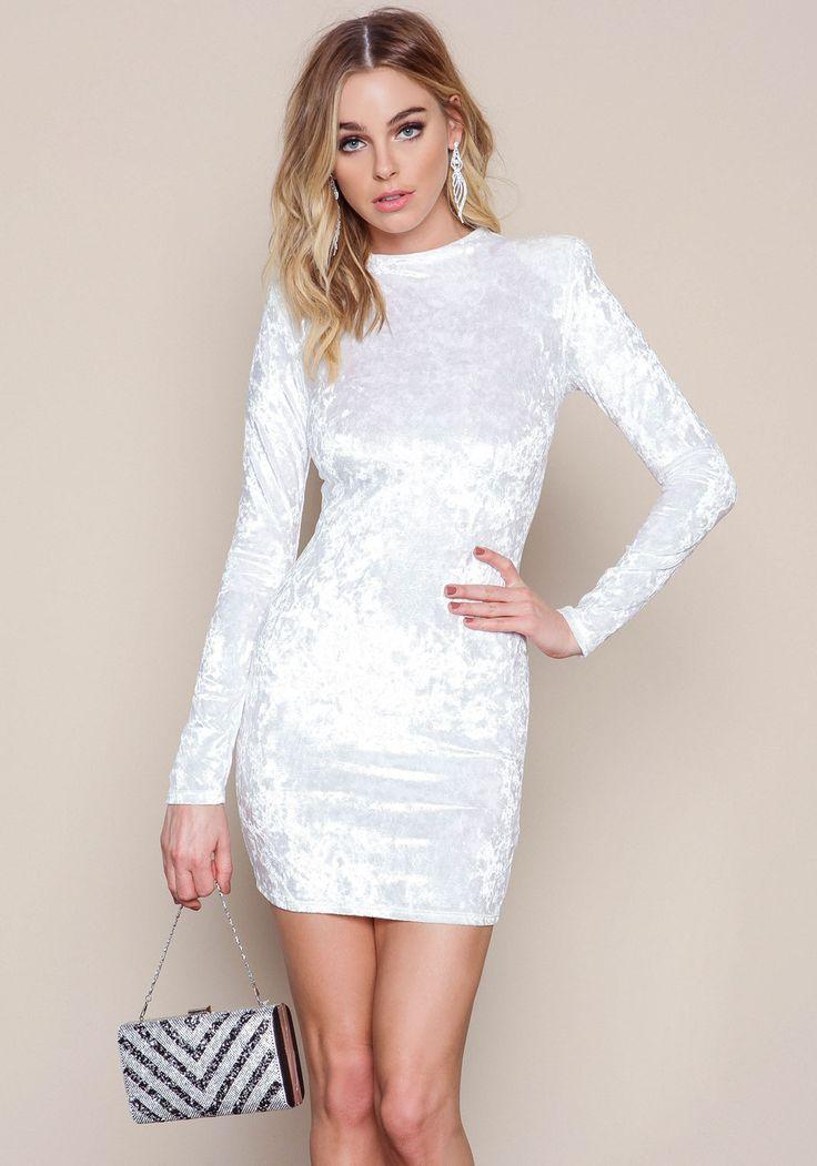 White Velvet Crush Mini Dress - LoveCulture.com ♡