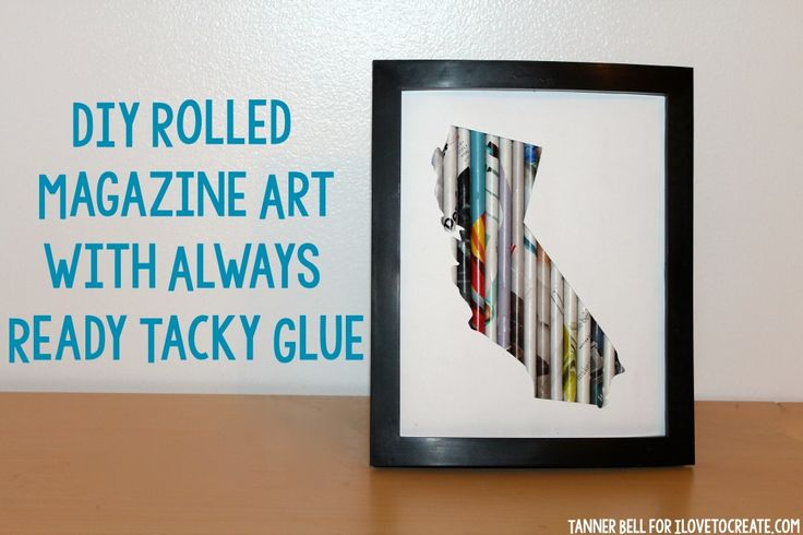 DIY Rolled Magazine Art with Always Ready Tacky Glue - A Little Craft In Your DayA Little Craft In Your Day