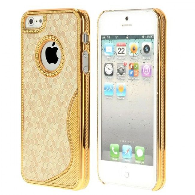 Golden Chrome S-Line (Kulta) iPhone 5S Suojakuori - http://lux-case.fi/golden-chrome-s-line-kulta-iphone-5-suojakuori.html