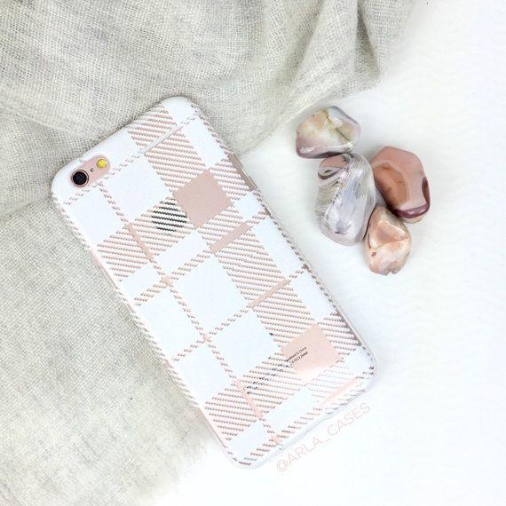 Couleur imprimé souple cas évident avec la conception Simple de Plaid grise  Cette affaire iPhone dernier cri a été conçue et imprimée dans la