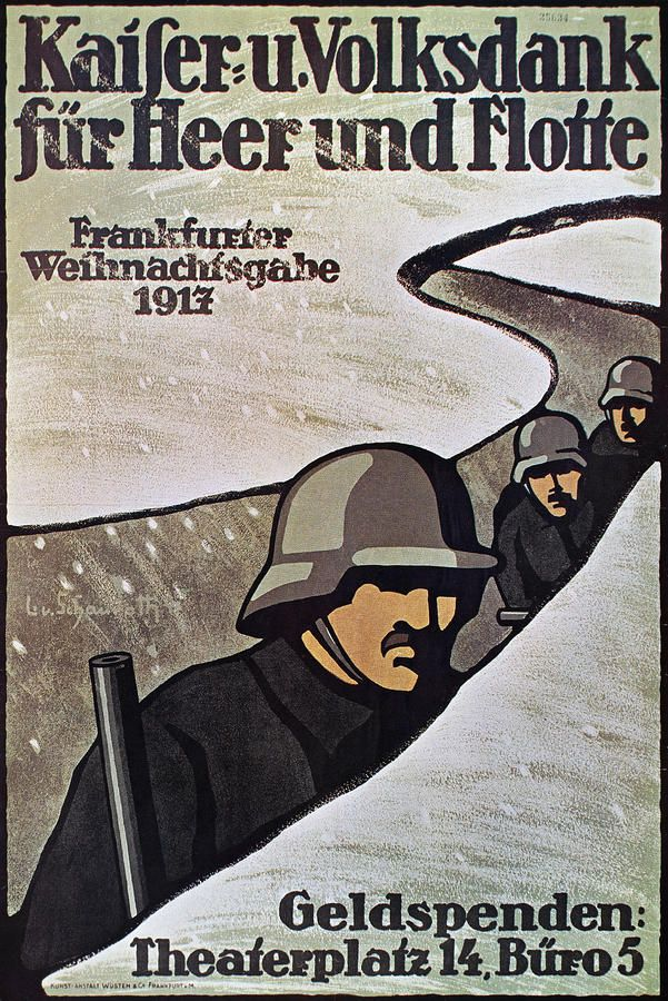World War 1 German Poster, 1917. if you were a civilian do ...