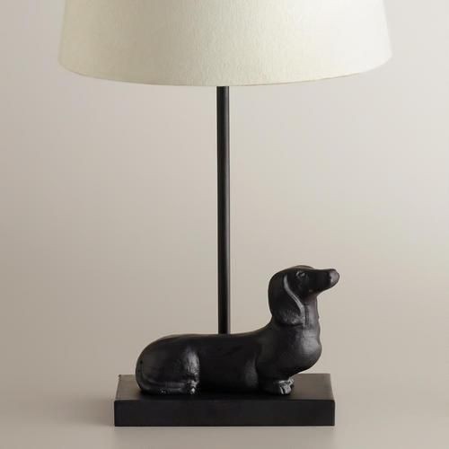 Dachshund Accent Lamp Base - OWN IT!  With a better lamp shade, though.