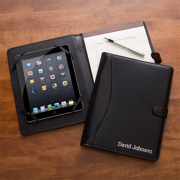 11542 - Executive Personalized Leather iPad® Portfolio