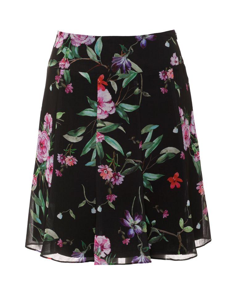 Wild Pixie Skirt   Black and Multi   Skirt