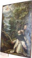 Jan Soens (Bois - le- Duc, 1553 - Parma a Cremona 1611/14 -La Vergine appare due domenicani inginocchiati entro un bosco. Matka Boża ukazuje się dominikanom