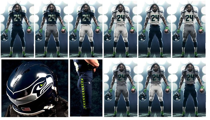 2012 Nike Seahawks Uniform Combos