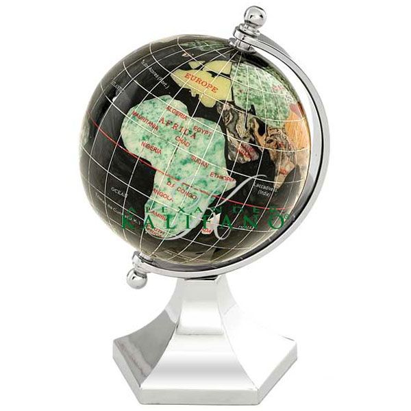 30 best gemstone globes images on pinterest gem gemstone and contempo 3 gemstone globe on a silver stand from world globe universe gumiabroncs