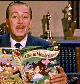 Walt Disney in an introduction sequence for his weekly television show.