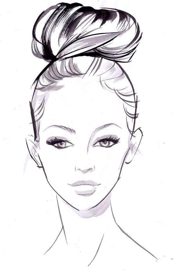 Best 25+ Fashion Illustration Hair Ideas On Pinterest | Side View Fashion Sketches And Fashion ...