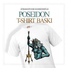 Poseidon Karakterli T Shirt Baskı