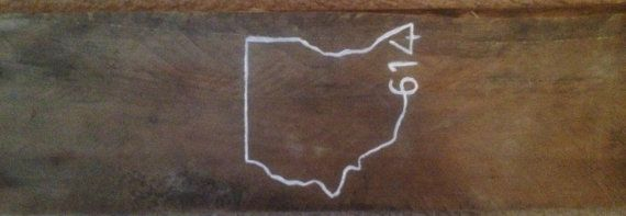 Ohio Outline by ArtWeAwesome on Etsy, $15.00