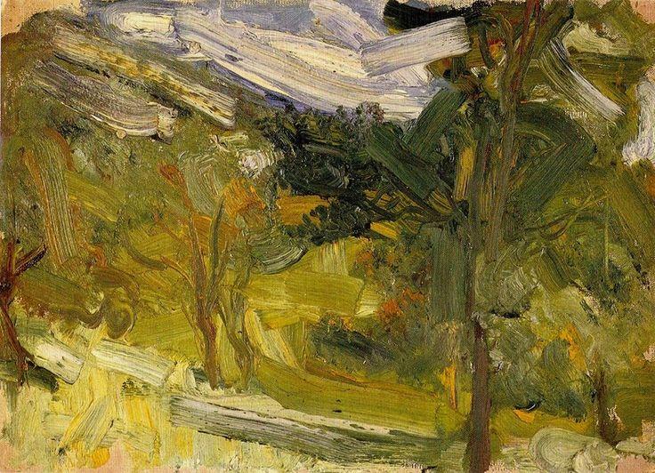 Richard Gerstl (1883-1908) Landscape study, 1907