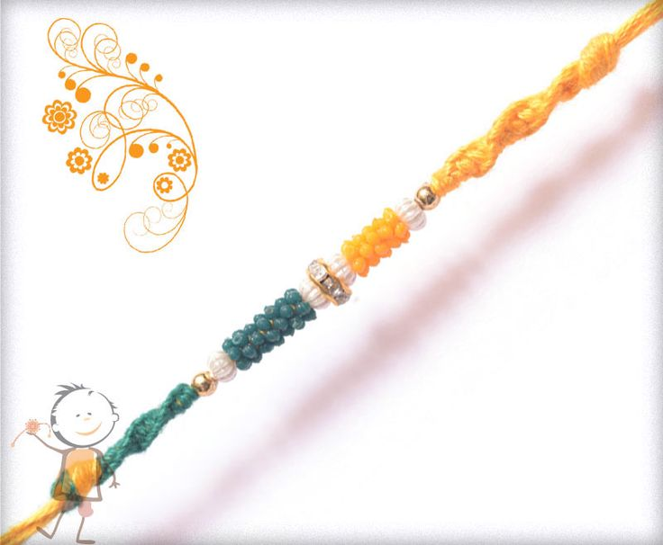 Mauli  #Rakhi Collection 2015 – Send  #Rakhi to #India, #USA, #UK, #Canada, #Australia, #Dubai #NZ #Singapore. Color Thread Diamond Mauli Rakhi, surprise your loved ones with roli chawal, chocolates and a greeting card as it is also a part of our package and that too without any extra charges.http://www.bablarakhi.com/send-fancy-rakhi-online/881-send-color-thread-diamond-mauli-rakhi-online.html