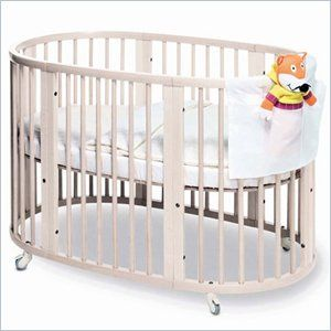 stokke sleepi crib can be used as a bassinet a crib a toddler bed or two chairs what a dreamy crib
