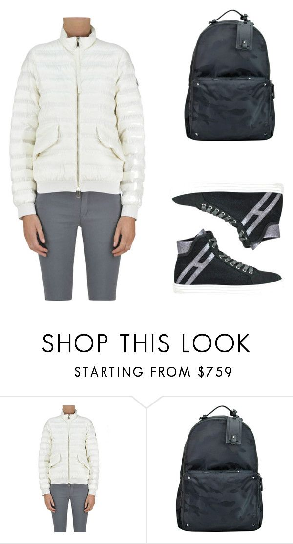 """Casual style"" by glamest-luxury-outlet on Polyvore featuring moda, Moncler, Valentino e Hogan Rebel"